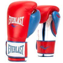 Боксерские перчатки Everlast PowerLock (EPLBG, красно-синие)